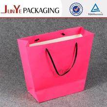 excellent high grade customized supplies pink art shopping bag paper bag