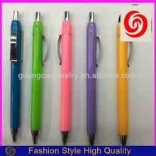 fashion 2016 plastic pen fruit color ballpoint pens OEM accept