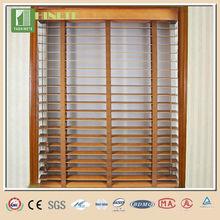 China última de madera persianas de la ventana/persiana de madera cenefas