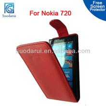 Mix colors Filp PU Leather case cover for Nokia Lumia 720