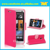 PU & TPU Material Leather Case For HTC One M7