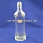 crystal white glass spirit bottle
