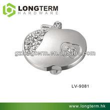 Apple shaped crystal single hole kitchen cabinet door knobs