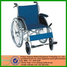 Foshan ANCHENG high quality ultra lightweight super width lv lun yi aluminum castor PU tire spoken wheel chair factory provider