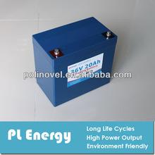rechargeable e-bike escooter lifepo4 battery pack 36v 20ah