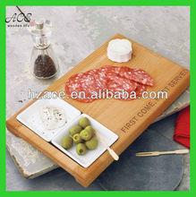 Beech serving board/carved wood serving board/wooden resturant serving board