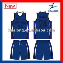 Latest sleeveless custom basketball uniform design