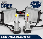Fix for most cars!!! 28W Hi/Low beam 12v H4 car led headlight.