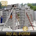 rd selon les dessins de construction de coffrage en aluminium