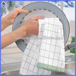 organic cotton dish towel/kitchen towel wholesale