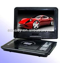 Portable dvd player usb port and digital TV tuner