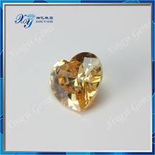 High quality light champagne loose heart cubic zirconia diamond congo rough diamond for sale