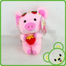 Carrefour supplier new products 2014 pink plush pig toy/pig shape pet toy/cute pig soft toys for baby