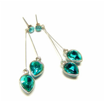 2014 Summer collection drop dangle earrings AAA+ teardrop diamond earrings