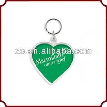 2014 personalized custom promotional new design acrylic heart keychain