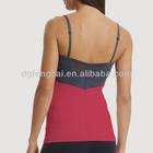 Custmized nylon spandex fitness ladeies yoga crop girls top design