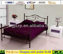 Contemporary look metal bed