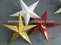 Pendurado gilter shinning estrela de papel