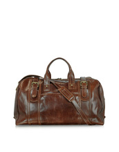 Hot Selling New Products Handmade Large Brown Italian Leather Holdall Bag Travel Bag with Paypal Accepted