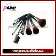 Cosmetics and makeup factory 10pcs wood handle private label makeup brush