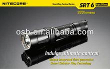 Newest(2 x CR123 / 1 x 18650) - Black NiteCore SRT6 Cree XM-L2 T6 LED Stepless Dimming 930 Lumens Flashlight