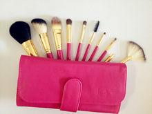 di qualità top rosa 10 pz capra capelli trucco spazzola cosmetica set