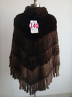 2014 winter womens mink fur knitted cloak shawls