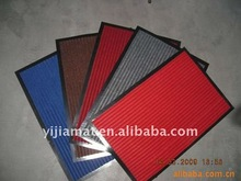 polyester striped carpet with pvc backing
