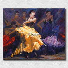 Oil painting reproduction flamenco dancer canvas painting