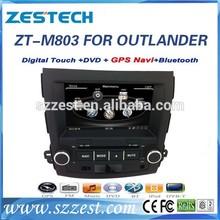 ZESTECH car video gps support bluetooth audio navigation car audio for Mitsubishi OUTLANDER EX