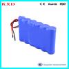 Rechargeable 4amp 18650 11.1v li-ion battery pack for LED lighting