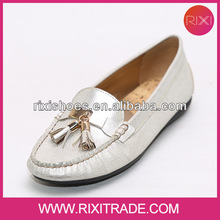 2014 woman silver spring tassel loafers