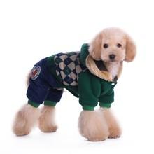 Winter warm four legs dog clothing
