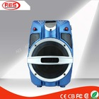 """6.5""""LED blue speaker party camping music box battery speaker light show with backpack"""