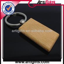 Promotional cheap custom wood key chain