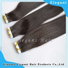 PU skin weft hair,Indian virgin hair tape hair extension