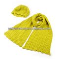 2014 cappello di lana e sciarpa a maglia