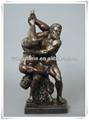 abstracto de fundición de bronce hombre desnudo escultura
