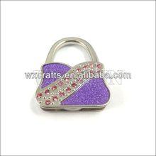 foldable cheap metal purse hanger/new design metal bag holder
