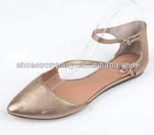 2014 bronze women flat bali shoes lady comfort shoes