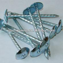 3 inch umbrella head plastic cap roofing nails