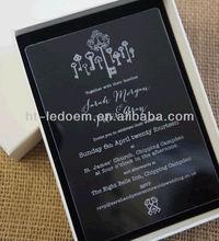 ACRYLIC WEDDING INVITATION -KEYS