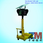 Two-side Or Four Sides Solar Movable Traffic Light/ protable solar traffic light