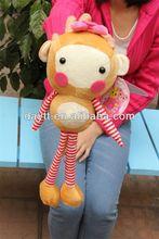 Toysrus supplier plush hanging monkey/swing monkey toy/long leg monkey of plush toys