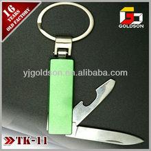 aluminium bottle opener keyrings