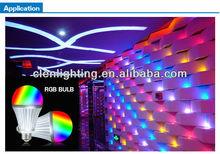 intelligent remote control e27 9w led bulb warm white, rf wireless AC86-265V rgbw control bulb,smart wifi led bulb