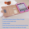 Italy leather cover flip case CC tablet bag for ipad air