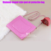 luxury diamond shape bling case for ipad air with long chain