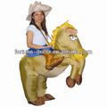 Disfraz inflable de caballo para fiesta de niños