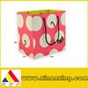 big pink art paper bag for shopping